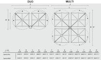Dimensions spectra duo multi