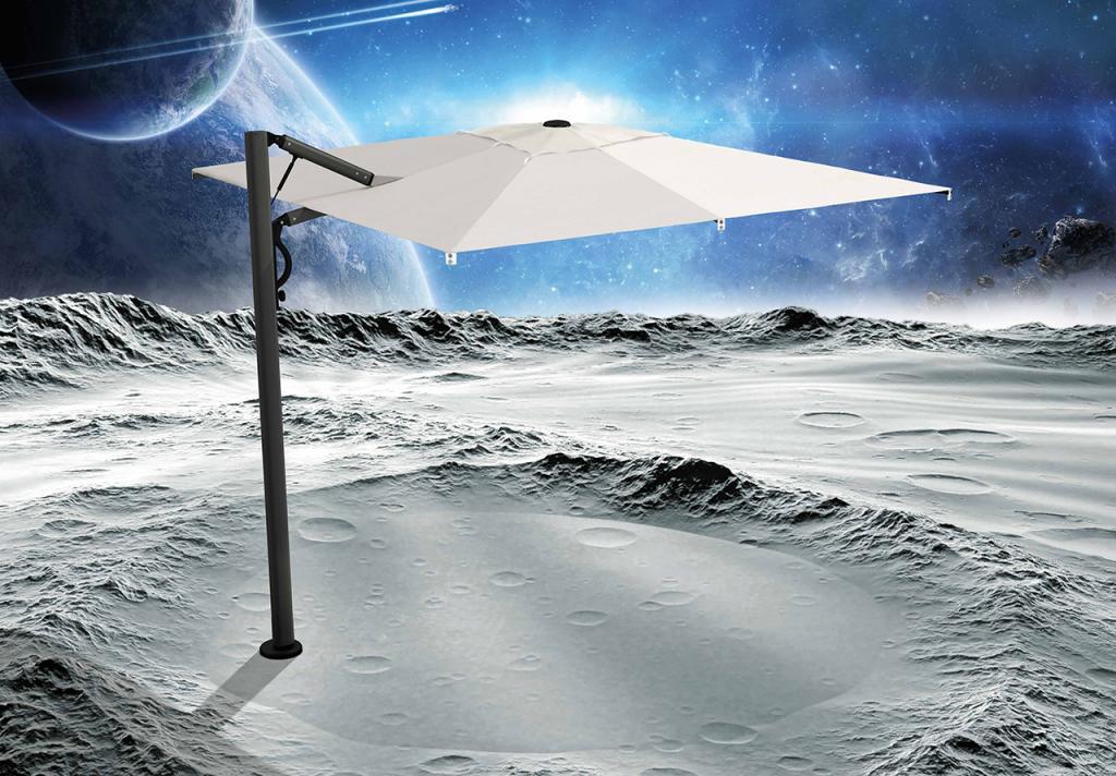 Parasol déporté haut de gamme Astro Carbon 300x300cm