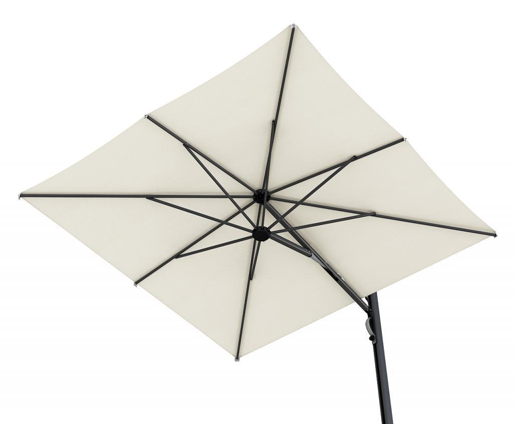 parasol d port haut de gamme luxe 3x3m astro scolaro excentr. Black Bedroom Furniture Sets. Home Design Ideas