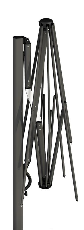 Parasol aluminium noir Astro SCOLARO