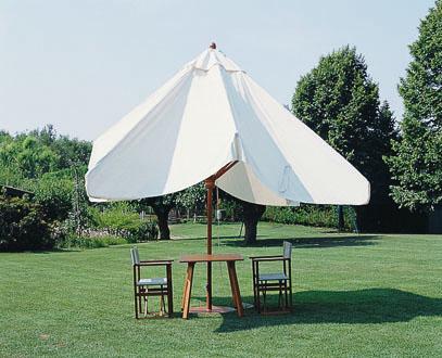 Parasol bois noir blanc beige terra cotta anthracite taupe bordeaux Palladio Telescopic SCOLARO