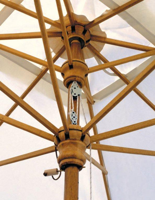 parasol armature en bois exotique