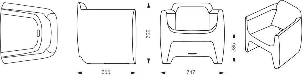 Dimension fauteuil translation