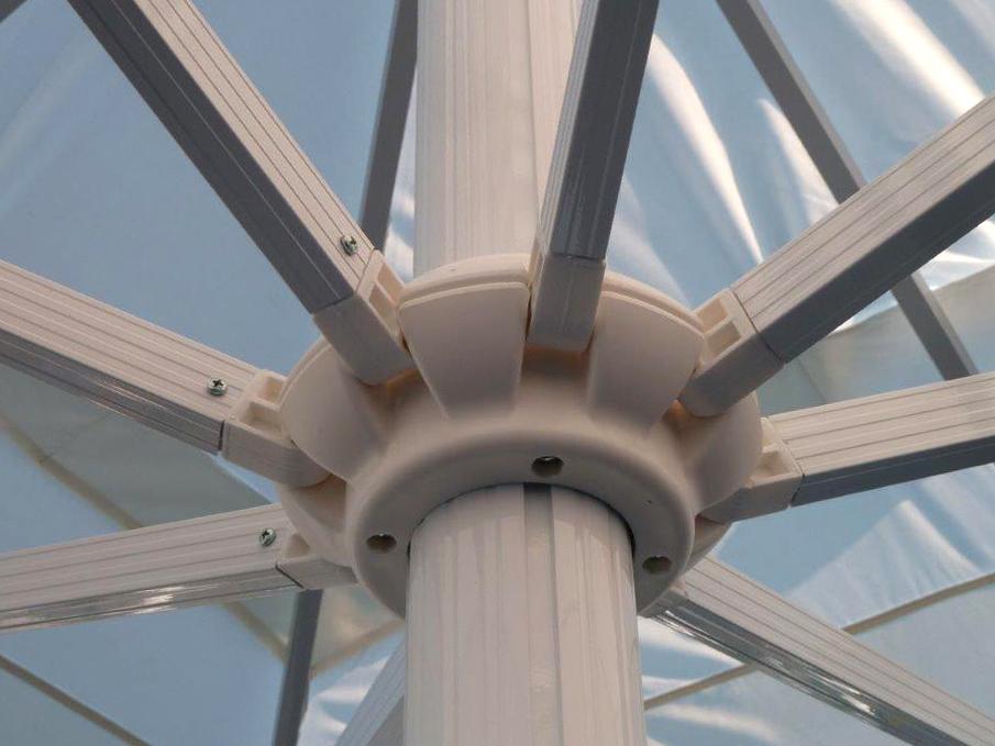 armature grand parasol résistant au vent