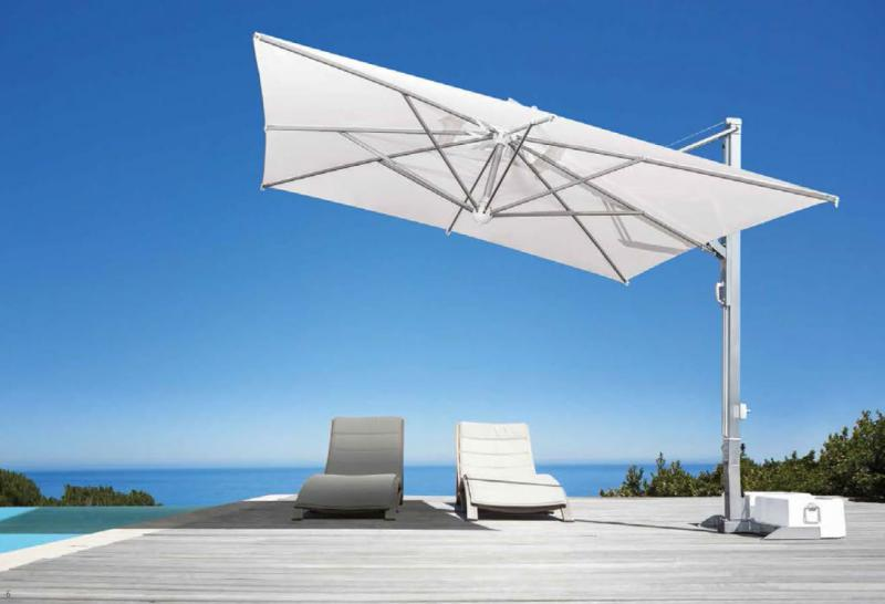 parasol d port mat blanc ou inox de grande qualit. Black Bedroom Furniture Sets. Home Design Ideas