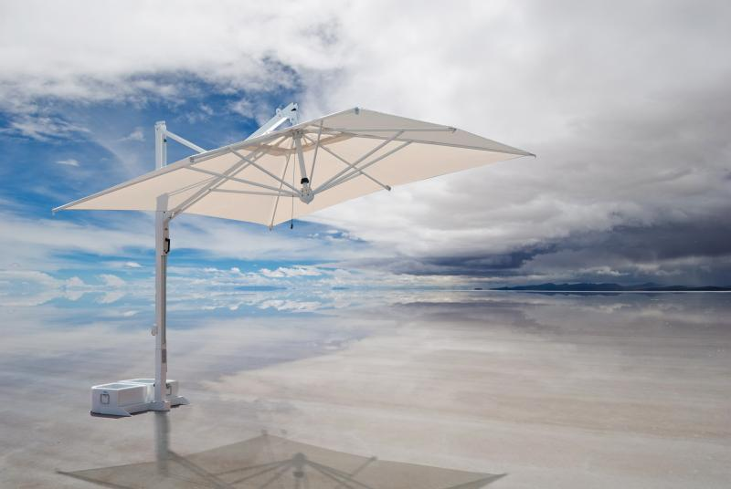 parasol d port mat blanc ou inox de grande qualit. Black Bedroom Furniture Sets. Home Design Ideas
