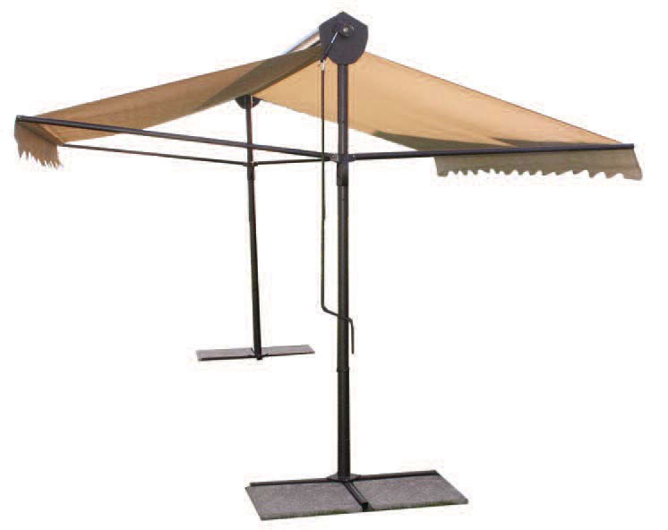 parasol professionnel 2 pans pour terasse de restaurant. Black Bedroom Furniture Sets. Home Design Ideas