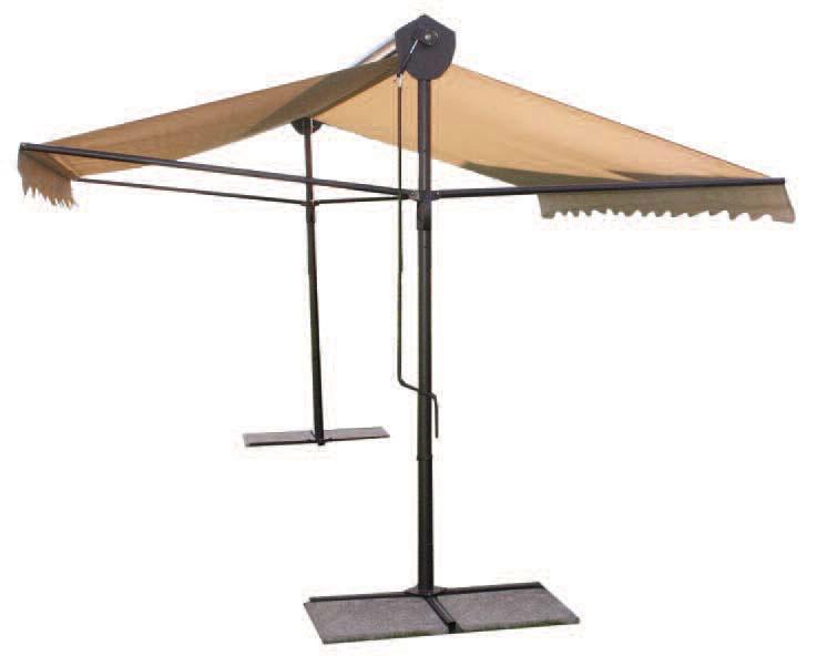 Parasol professionnel 2 pans pour terasse de restaurant for Four pour restaurant