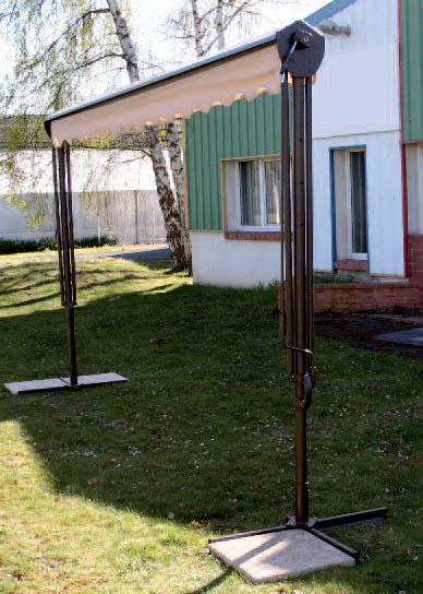 Parasol Rectangle 3x4.5m Ecru (0001) Avec lambrequin droit Ombre