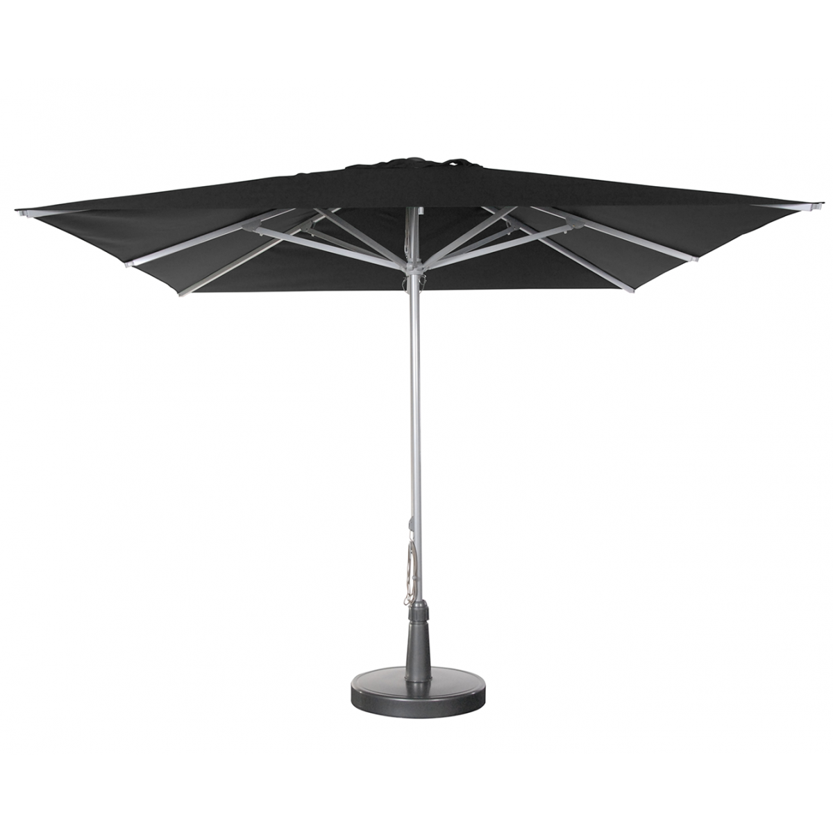 parasol solero patio mat centr carr de 3x3m aluminium argent. Black Bedroom Furniture Sets. Home Design Ideas