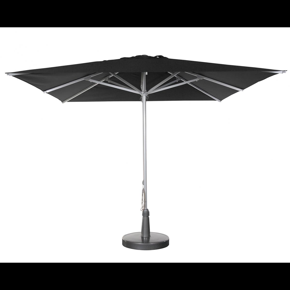 parasol solero patio mat centr carr de 3x3m aluminium argent. Black Bedroom Furniture Sets. Home Design Ideas