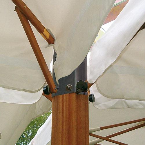 Parasol déporté rectangle 3.5x7m Alu Double Scolaro SCOLARO