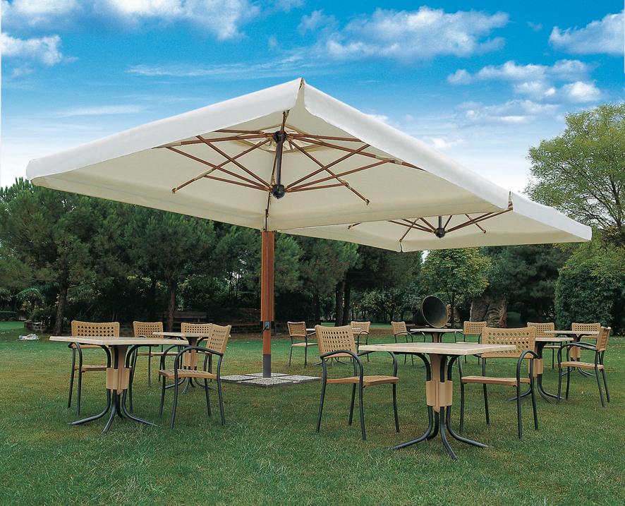 Double parasol Alu Double Scolaro SCOLARO