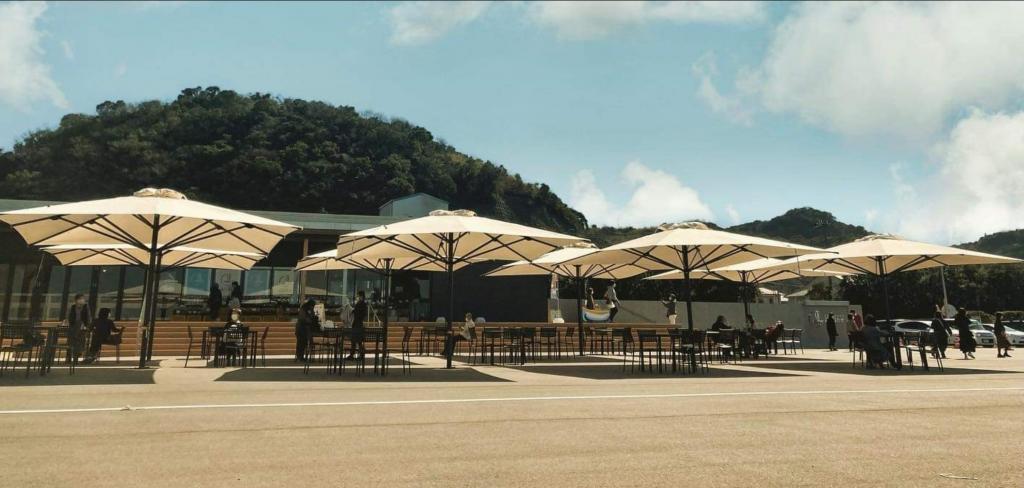 Parasol geant restaurant capri