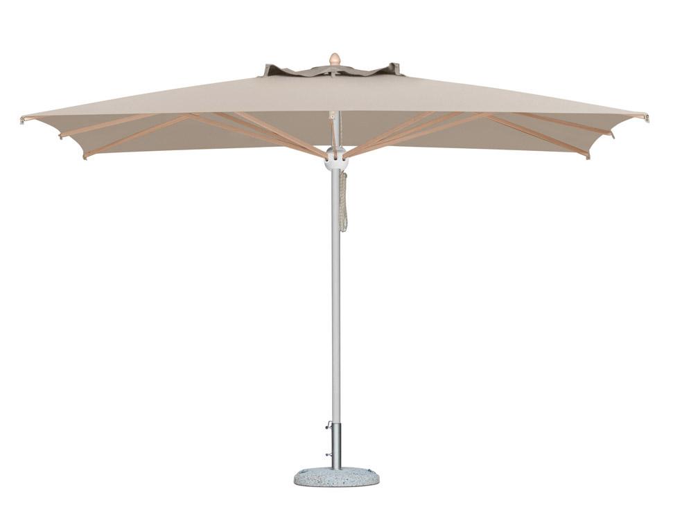 parasol milano en aluminium vernis blanc pour restaurant. Black Bedroom Furniture Sets. Home Design Ideas