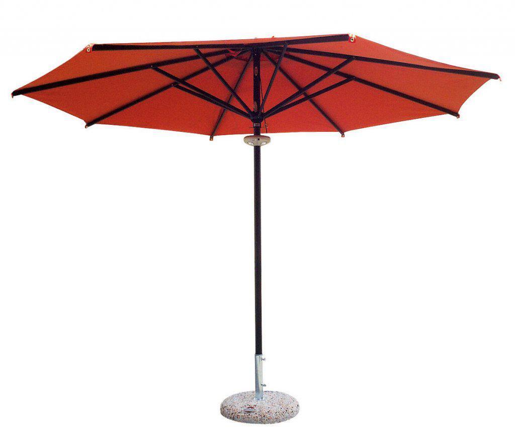 parasol restaurant alu gris rond 3x3m et 3x4m. Black Bedroom Furniture Sets. Home Design Ideas