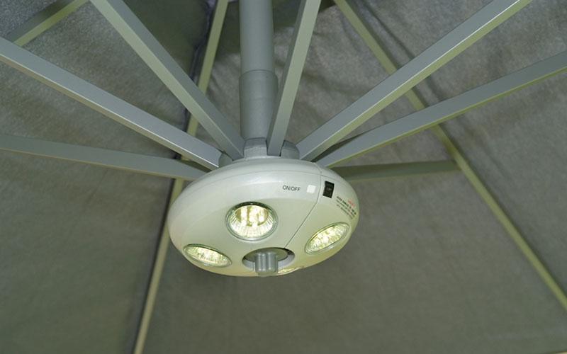 lampe éclairage parasol déporté