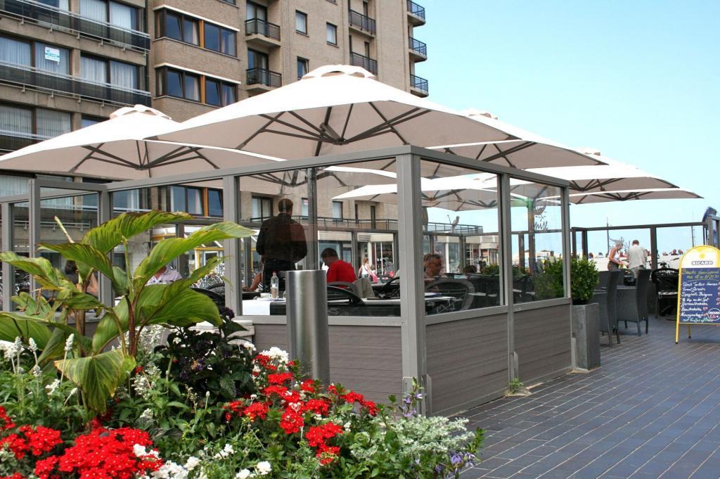 Prostor p6 design parasol aluminium 5x5 6x6 chr restaurant hotel